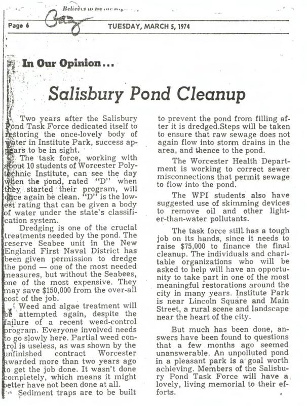 News Article - Salisbury Pond Task Force