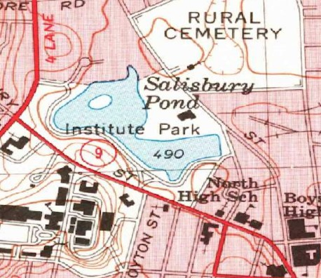 Map of Institute Park 1974