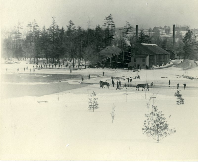 Salisbury Pond - Ice Harvesting
