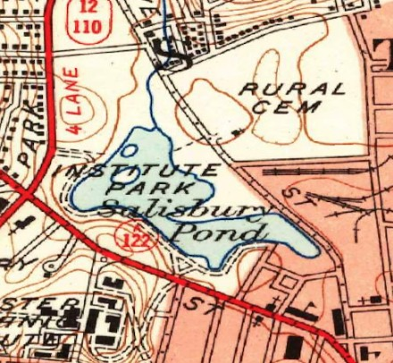 Map of Institute Park 1948