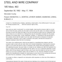 Walker Ice Company vs American Steel and Wire Company